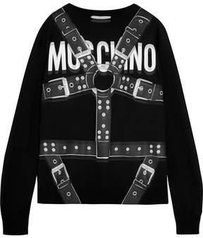 Moschino Printed Wool Sweater - Black