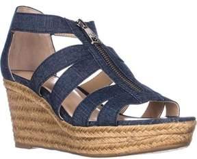 Lauren Ralph Lauren Lauren by Ralph Lauren Kelcie Platform Wedge Sandals, Blue.