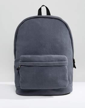 Asos Backpack In Gray Fleece
