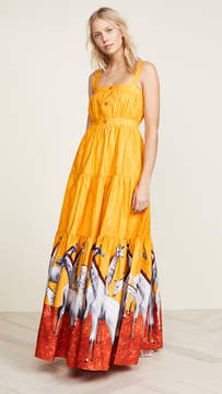 Stella Jean Giraffe Maxi Dress