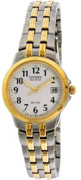 Citizen Women's EW1544-53A Gold Stainless-Steel Plated Eco-Drive Fashion Watch