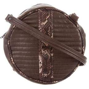Reece Hudson Round Quilted Crossbody Bag