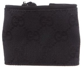 Gucci GG Canvas Wrist Band Coin Pouch - BLACK - STYLE