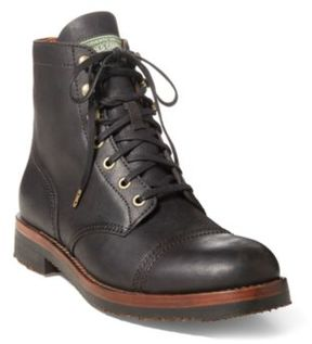 Ralph Lauren Enville Leather Boot Dark Brown 10