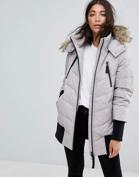 Esprit Down Ribbed Cuff Padded Coat
