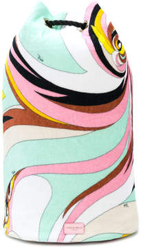 Emilio Pucci oversized printed backpack
