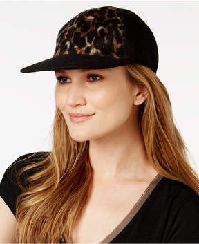 INC International Concepts Leopard-Print Baseball Cap, Created for Macy's