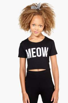 boohoo Girls Meow Crop Top
