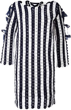 Carolina Herrera colour block knitted dress