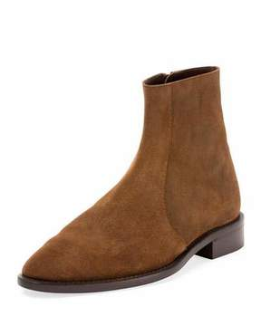 Balenciaga Standard Suede Chelsea Ankle Boot, Brown