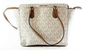 Michael Kors Dee Dee Large Convertible Logo Tote - Vanilla - 30F6GTWT4B-150 - IVORIES - STYLE