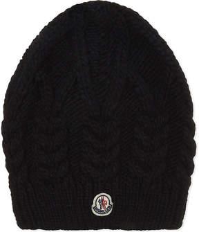 Moncler Cable knit beanie hat