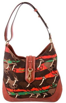 Marc by Marc Jacobs Leather-Trimmed Printed Hobo - BROWN - STYLE
