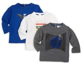 Armani Junior Infant Boy's Cotton Graphic T-Shirt