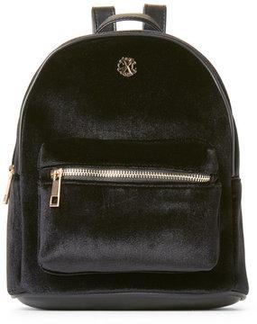 Christian Lacroix Black Isabelle Mini Velvet Backpack