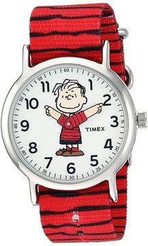 Timex Weekender X Peanuts Nylon Slip-Through Strap Watches
