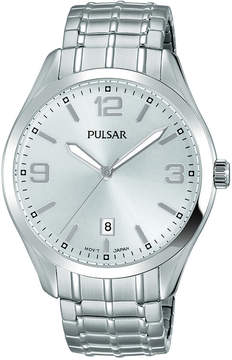 Pulsar Men's Traditional Stainless Steel Expansion Bracelet Watch 41mm PS9491
