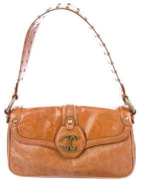 Just Cavalli Leather Stud-Accented Shoulder Bag