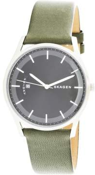 Skagen Men's Holst SKW6394 Silver Leather Japanese Quartz Fashion Watch