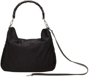 Gucci Bamboo cloth handbag - BLACK - STYLE