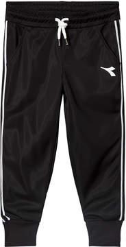 Diadora Black Tech Fabric Branded Track Bottoms