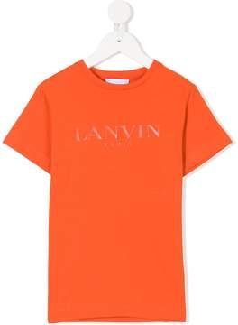 Lanvin Enfant logo embroidered T-shirt