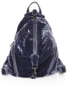 Rebecca Minkoff Medium Julian Velvet Backpack - BLUE - STYLE