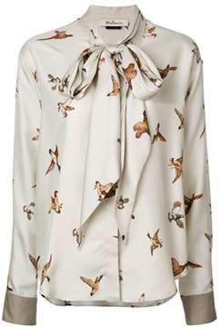Mulberry Women's White/grey Silk Blouse.