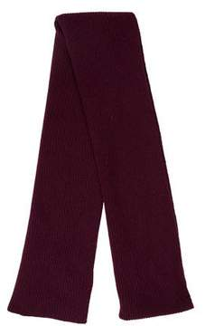 Brooks Brothers Cashmere Rib Knit Scarf