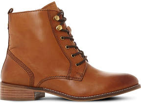 Dune Ladies Tan Classic Quincey Leather Lace-Up Boots