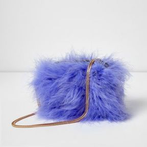 River Island Womens Light purple feather cross body bag