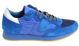 Philippe Model Men's Blue Suede Sneakers.
