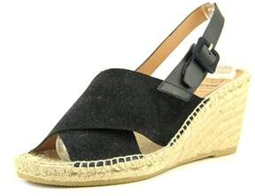 Kanna Serraje Open Toe Leather Wedge Sandal.