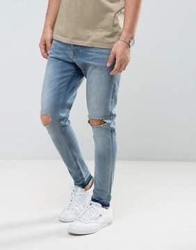 Brave Soul Skinny Carrot Fit Distressed Jeans