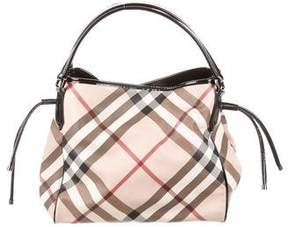 Burberry Nova Check Drawstring Tote