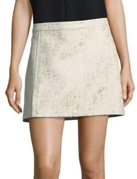 Rachel Zoe Metallic Boucle Skirt