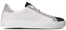Eleventy Men's White Leather Sneakers.