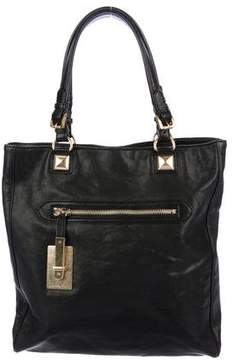 MICHAEL Michael Kors Grained Leather Zip Pocket Tote