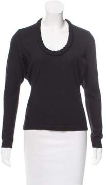 Behnaz Sarafpour Wool Scoop Neck Sweater