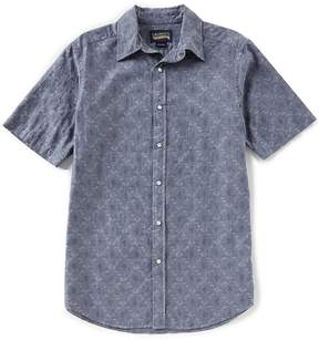 Daniel Cremieux Jeans Big and Tall Paisley Snap-Front Short-Sleeve Woven Shirt