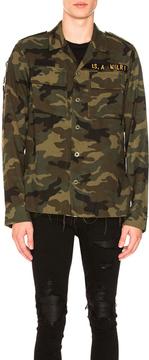 Amiri Military Shirt in Abstract,Green,Brown.