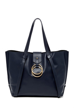Badgley Mischka Leather Campaign Tote