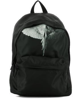 Marcelo Burlon County of Milan Black Polyester Backpack