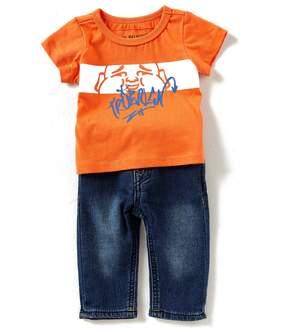 True Religion Baby Boy 3-24 Months Buddha Short Sleeve Tee & Jeans Set
