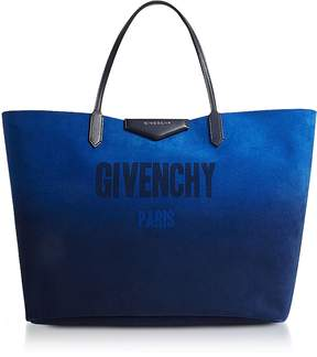 Givenchy Gradient Blue and Silver Reversible Tote Bag