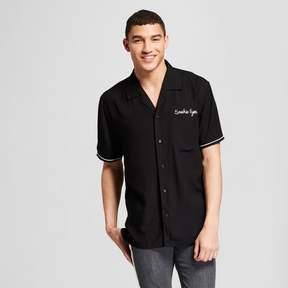 Jackson Men's Bowling Short Sleeve Button-Down Shirt Black