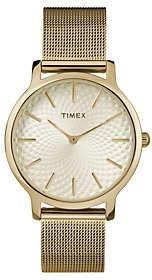 Timex Ladies Metropolitan Goldtone Mesh AnalogWatch