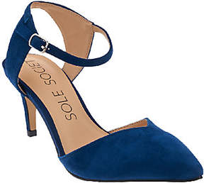 Sole Society Suede Ankle Strap Pumps - Laurent