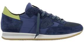 Philippe Model Men's Blue Fabric Sneakers.