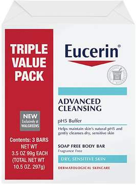 Eucerin Advanced Cleansing Body Bar Triple Pack